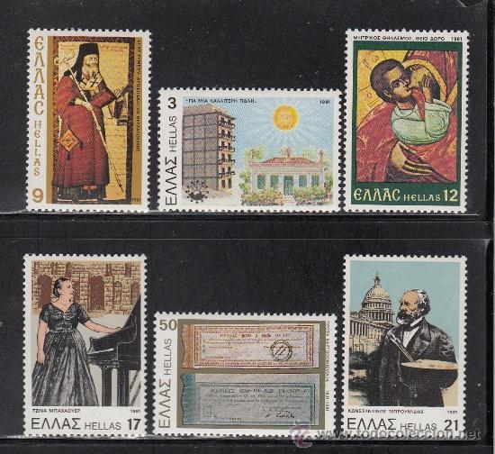GRECIA 1447/52** - AÑO 1981 - ANIVERSARIOS Y ACONTECIMIENTOS (Sellos - Extranjero - Europa - Grecia)