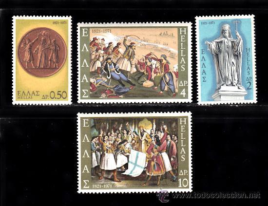 GRECIA 1040/43*** - AÑO 1971 - 150º ANIVERSARIO DE LA GUERRA DE INDEPENDENCIA (Sellos - Extranjero - Europa - Grecia)