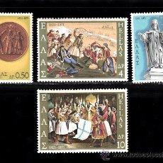 Sellos: GRECIA 1040/43*** - AÑO 1971 - 150º ANIVERSARIO DE LA GUERRA DE INDEPENDENCIA . Lote 38852007