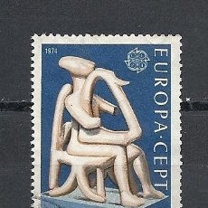 Sellos: GRECIA 1974, YVERT Nº 1144, EUROPA. MATASELLADO. Lote 40086721