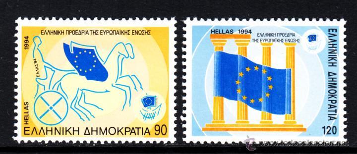 GRECIA 1844/45** - AÑO 1994 - PRESIDENCIA GRIEGA DE LA UNION EUROPEA (Sellos - Extranjero - Europa - Grecia)