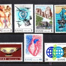 Sellos: GRECIA 1427/33** - AÑO 1981 - ANIVERSARIOS Y ACONTECIMIENTOS. Lote 48528219