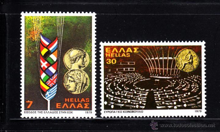 GRECIA 1338/39** - AÑO 1979 - ENTRADA DE GRECIA EN EL MERCADO COMUN EUROPEO (Sellos - Extranjero - Europa - Grecia)