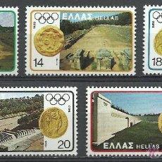 Sellos: GRECIA - 1980 - MICHEL 1421/1425 // SCOTT 1362/1366** MNH. Lote 53717603