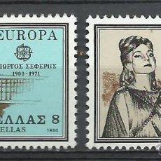 Sellos: GRECIA - 1980 - MICHEL 1411/1412 // SCOTT 1352/1353** MNH. Lote 111771191