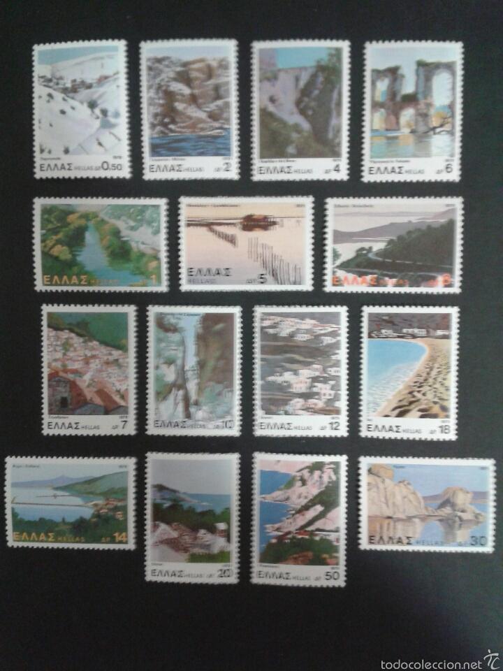 SELLOS DE GRECIA. YVERT 1365/79. SERIE COMPLETA NUEVA SIN CHARNELA. (Sellos - Extranjero - Europa - Grecia)