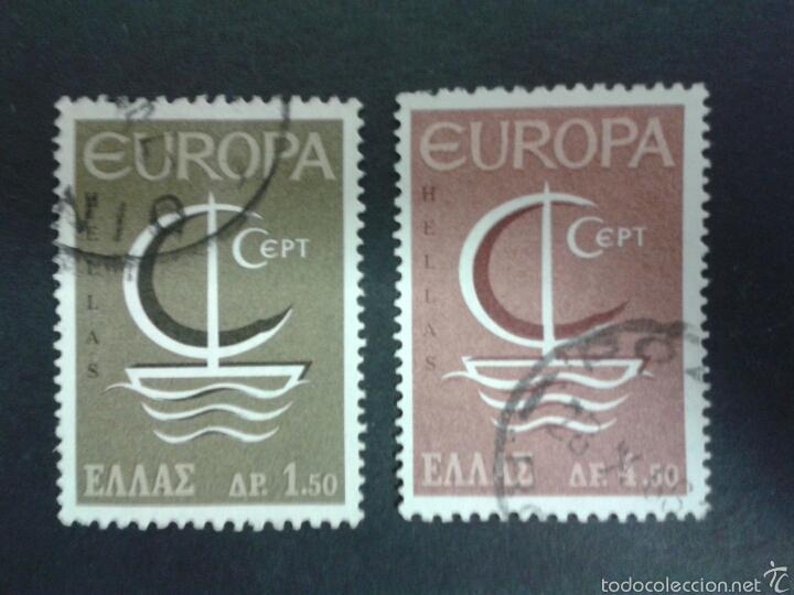 SELLOS DE GRECIA. EUROPA CEPT. YVERT 897/8. SERIE COMPLETA USADA. (Sellos - Extranjero - Europa - Grecia)
