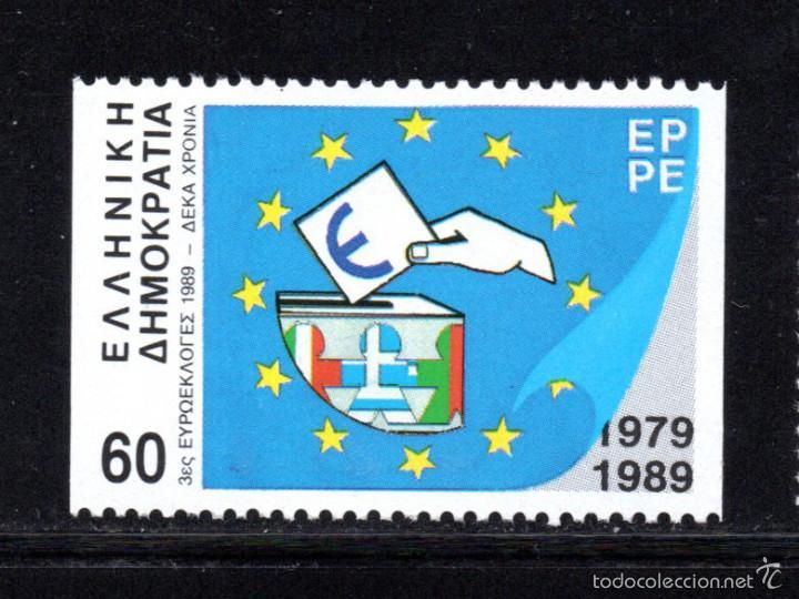 GRECIA 1709** B - AÑO 1989 - 10º ANIVERSARIO DE LAS PRIMERAS ELECCIONES EUROPEAS (Sellos - Extranjero - Europa - Grecia)