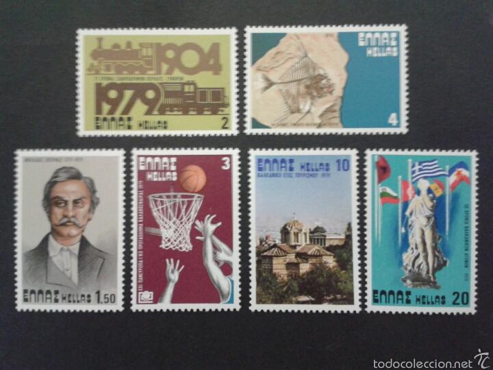SELLOS DE GRECIA. YVERT 1332/7. SERIE COMPLETA NUEVA SIN CHARNELA. (Sellos - Extranjero - Europa - Grecia)