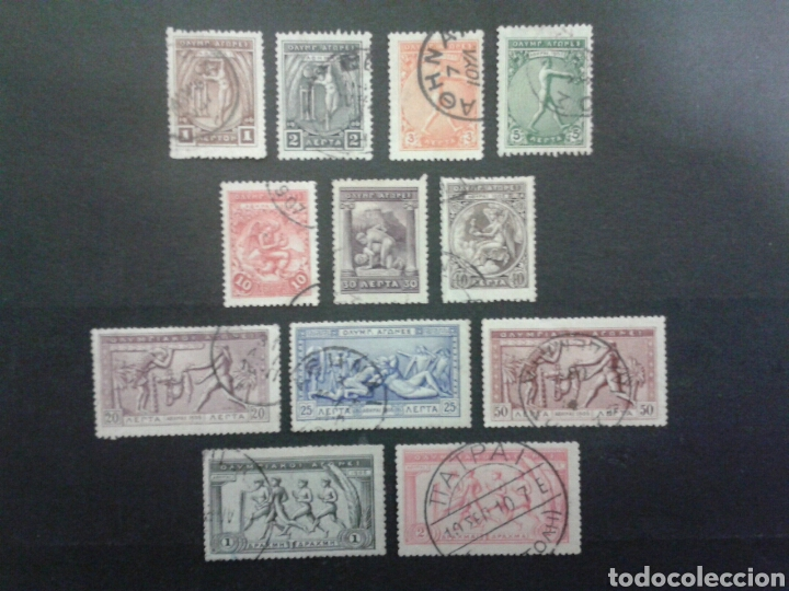 SELLOS DE GRECIA. DEPORTES. YVERT 165/76. FALTAN 177 Y 178. SERIE CORTA USADA. (Sellos - Extranjero - Europa - Grecia)