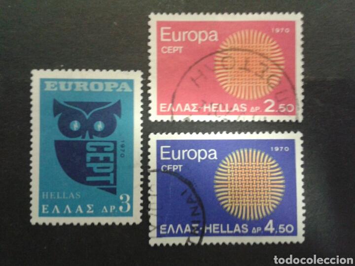 SELLOS DE GRECIA. YVERT 1020/2. SERIE COMPLETA USADA. EUROPA CEPT. (Sellos - Extranjero - Europa - Grecia)