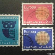 Sellos: SELLOS DE GRECIA. YVERT 1020/2. SERIE COMPLETA USADA. EUROPA CEPT.. Lote 71103579