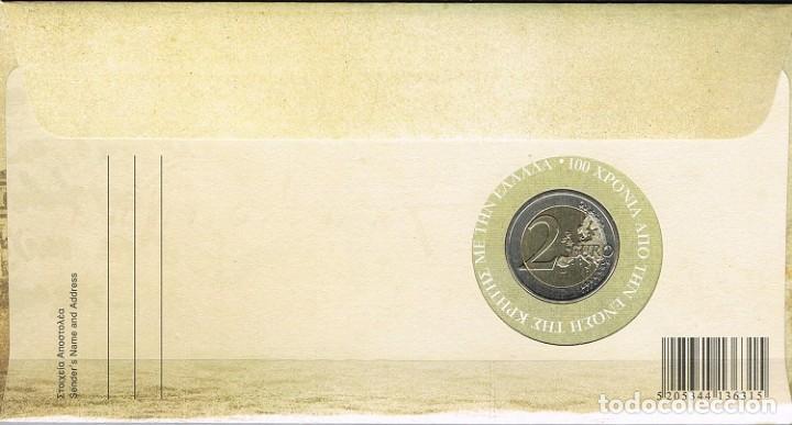 Sellos: [CF7277] Grecia 2013, FDC 100 Aniv, unión Grecia y Creta + 2€ (NS) - Foto 2 - 125564975