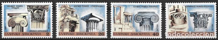GRECIA 1987. CAPITELES ARQUITECTURA GRIEGA CLÁSICA. YT 1643-46 NUEVO (MNH) (Sellos - Extranjero - Europa - Grecia)