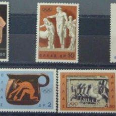 Sellos: GRECIA - 1 SERIE IVERT 841-47 (7 VALORES) - JUEGOS OLIMPICOS DE TOKYO 1964 - NUEVO GOMA ORIGINAL. Lote 151470126