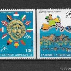 Sellos: GRECIA 1988 ** MNH SC 1649/1650 3.00 - 2/34. Lote 153385954