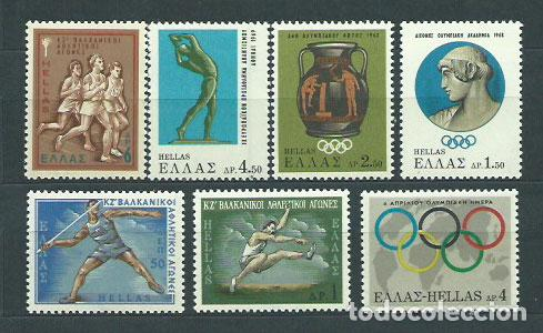 GRECIA - CORREO 1968 YVERT 944/50 ** MNH DEPORTES (Sellos - Extranjero - Europa - Grecia)