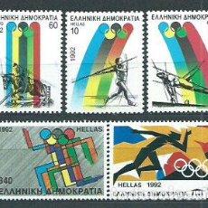 Sellos: GRECIA - CORREO 1992 YVERT 1779/83 ** MNH OLIMPIADAS DE BARCELONA. Lote 155044954
