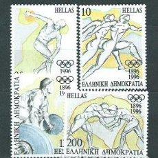 Sellos: GRECIA - CORREO 1996 YVERT 1892/5 ** MNH DEPORTES. Lote 155045054