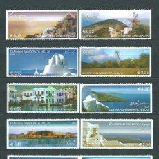 Sellos: GRECIA - CORREO 2004 YVERT 2241/50B ** MNH ISLAS GRIEGAS. Lote 155045262