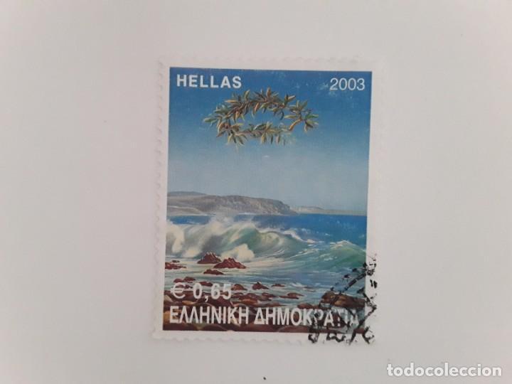 SELLO USADO GRECIA (Sellos - Extranjero - Europa - Grecia)