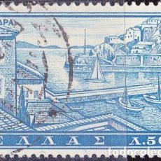 Sellos: 1961 - GRECIA - TURISMO - ISLA DE HIDRA - YVERT 728. Lote 161709354