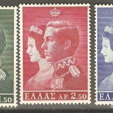 Sellos: GRECIA,3 VALORES,1964,CAT.YT.838/40.NUEVOS,G.ORIGINAL,SIN FIJASELLOS.. Lote 166564438
