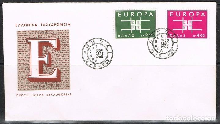 [CF1153B] GRECIA 1963, FDC SERIE EUROPA (NS) (Sellos - Extranjero - Europa - Grecia)