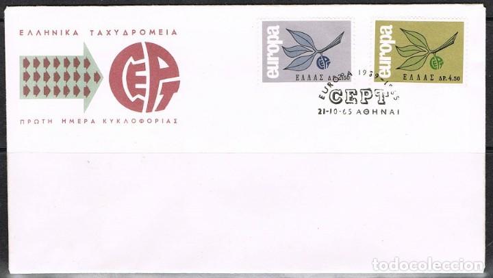 [CF2092B] GRECIA 1965, FDC SERIE EUROPA (NS) (Sellos - Extranjero - Europa - Grecia)