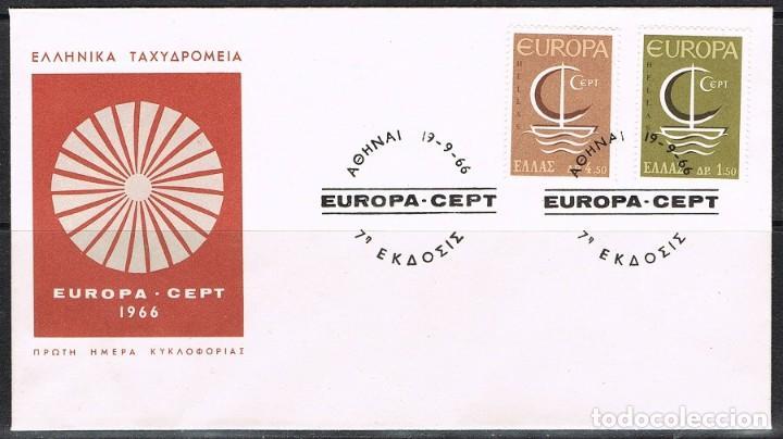 [CF2133A] GRECIA 1966, FDC SERIE EUROPA (NS) (Sellos - Extranjero - Europa - Grecia)