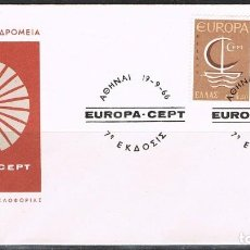 Sellos: [CF2133A] GRECIA 1966, FDC SERIE EUROPA (NS). Lote 170429784