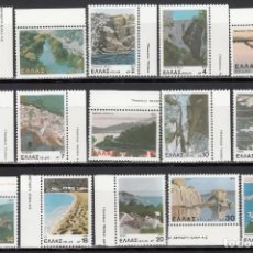 Sellos: GRECIA. 1979 YVERT Nº 1365 / 1379 /**/, DISTINTOS PAISAJES, . Lote 171716217