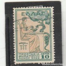 Sellos: GRECIA 1935 - YVERT NRO.4 - BENEFICENCIA - USADO - . Lote 179114337