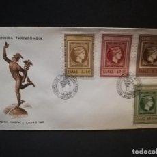 Sellos: SOBRE PRIMER DIA. GRECIA. TAXYAPOMEIA. AOHNAI. 1961.. Lote 187120978