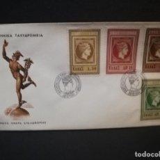 Sellos: SOBRE PRIMER DIA. GRECIA. TAXYAPOMEIA. AOHNAI. 1961.. Lote 187121016