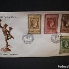 Sellos: SOBRE PRIMER DIA. GRECIA. TAXYAPOMEIA. AOHNAI. 1961.. Lote 187121023