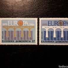 Sellos: GRECIA YVERT 1533/4 SERIE COMPLETA NUEVA ***. EUROPA CEPT. PUENTES.. Lote 194979015