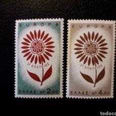 Sellos: GRECIA YVERT 835/6 SERIE COMPLETA NUEVA ***. EUROPA CEPT 1964.. Lote 195531683