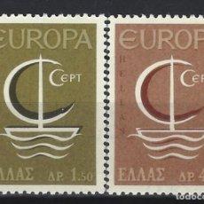 Sellos: GRECIA 1966 - EUROPA, S.COMPLETA - SELLOS NUEVOS **. Lote 195798091