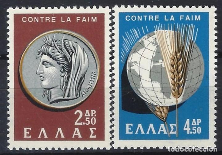 GRECIA 1963 - LUCHA CONTRA EL HAMBRE, S.COMPLETA - SELLOS NUEVOS ** (Sellos - Extranjero - Europa - Grecia)