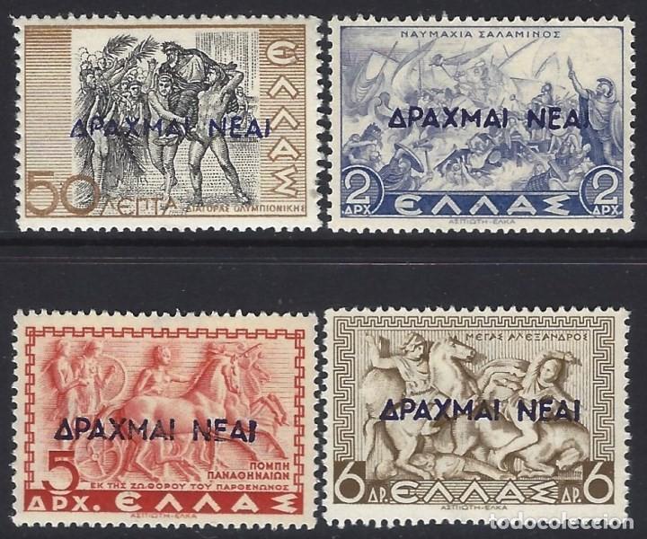 GRECIA 1944-45 - HISTORIA GRIEGA, SOBRECARGADOS, S.COMPLETA - SELLOS NUEVOS ** (Sellos - Extranjero - Europa - Grecia)