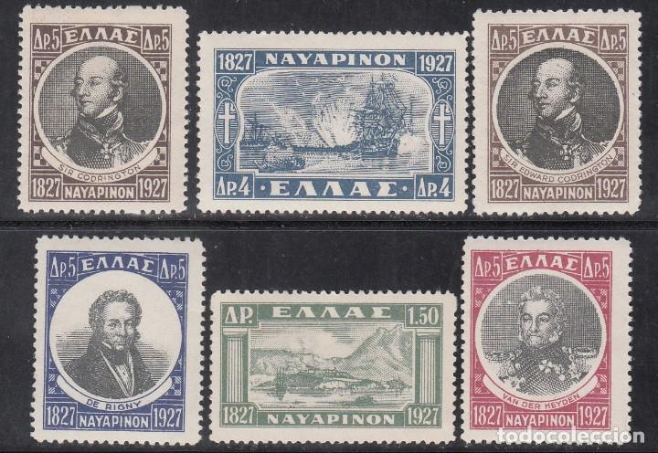 GRECIA, 1928 YVERT Nº 369 / 374 /*/, (Sellos - Extranjero - Europa - Grecia)