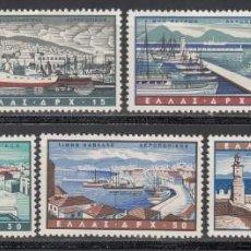 Sellos: GRECIA, AÉREO 1958 YVERT Nº 69 / 75 /**/, BARCOS, SIN FIJASELLOS, . Lote 196214910
