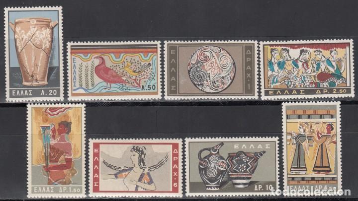 GRECIA, 1961 YVERT Nº 743 / 750 /**/, ARTE MINOICO (Sellos - Extranjero - Europa - Grecia)