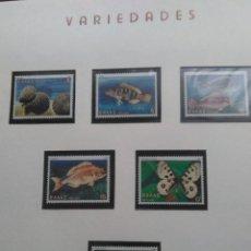 Sellos: FAUNA,PECES Y MARIPOSAS , YVERT 1434 / 39 , AÑO 1981. Lote 199196108