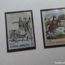Sellos: 200 ANIVERSARIO DEL NACIMIENTO DE GIORGIOS KARAISKAKIS, YVERT 1469/70 , AÑO 1982. Lote 199202851