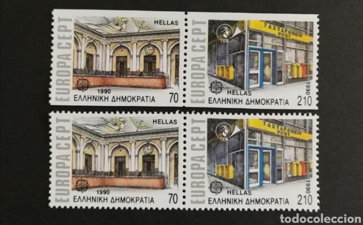 GRECIA, EUROPA CEPT 1990 MNH, ESTABLECIMIENTOS POSTALES (FOTOGRAFÍA REAL) (Sellos - Extranjero - Europa - Grecia)