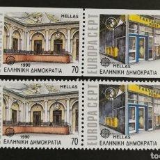 Sellos: GRECIA, EUROPA CEPT 1990 MNH, ESTABLECIMIENTOS POSTALES (FOTOGRAFÍA REAL). Lote 203455556