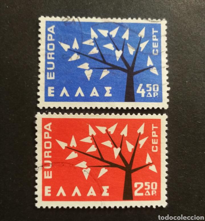 GRECIA, EUROPA CEPT 1962 COMPLETA Y USADA (FOTOGRAFÍA REAL) (Sellos - Extranjero - Europa - Grecia)