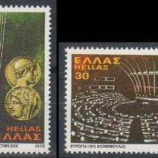 Sellos: GRECIA Nº 1338/9, ENTRADA EN LA COMUNIDAD ECONOMICA EUROPEA. NUEVO *** (SERIE COMPLETA). Lote 208750911